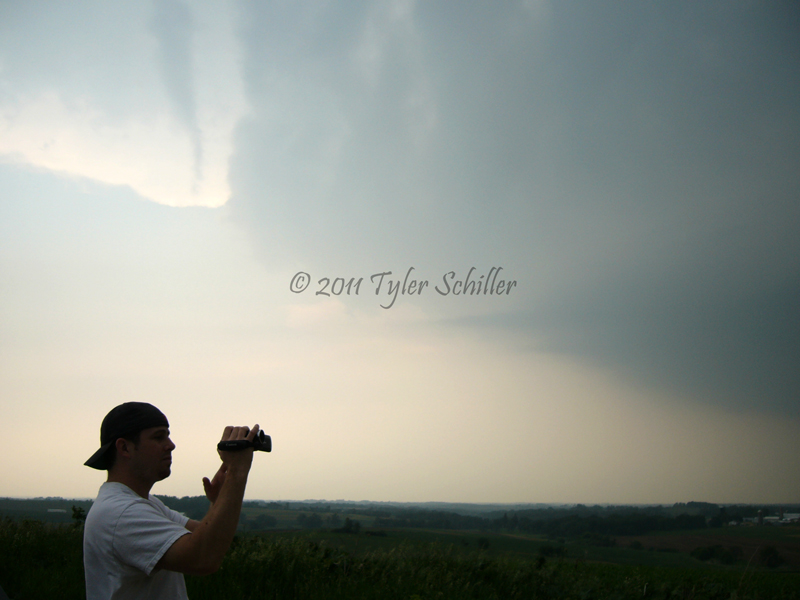 James documenting the storm's structure - Dodgeville, Wisconsin