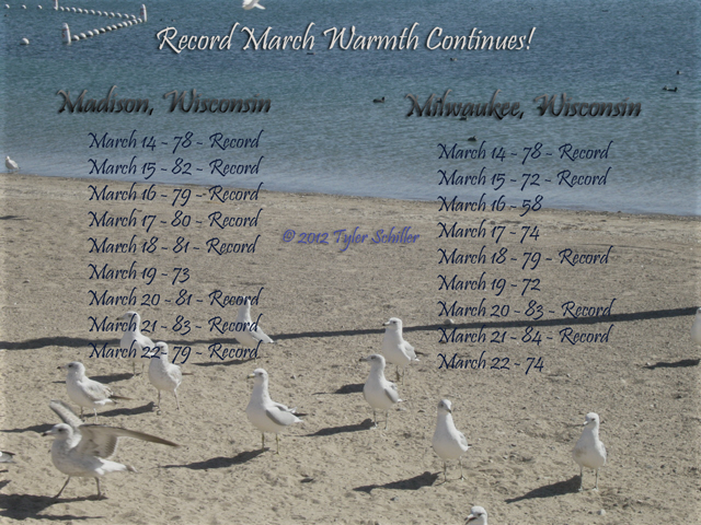 Record High Temperatures - March 2012 - Wisconsin