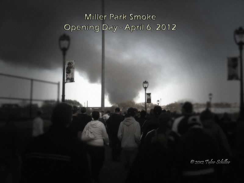 Miller Park Smoke - Opening Day - April 6, 2012