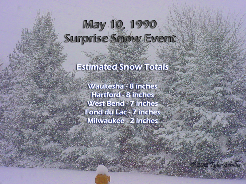 May 10, 1990 - Waukesha, Wisconsin Snow Event