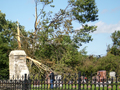 Tornado Damages Oak Knoll Cemetery